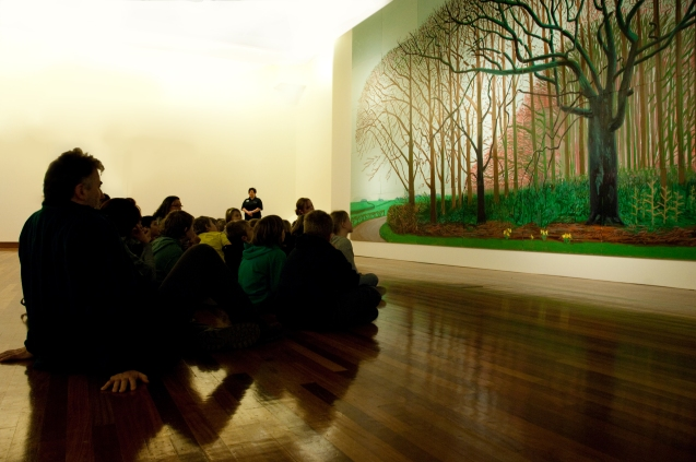 David Hockney exhibition workshop for schools